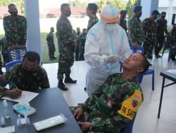 Lanud Sam Ratulangi Laksanakan Rapid Antigen Awali Giat Serbuan Vaksinasi
