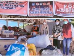 Peduli Korban Bencana Kebakaran Persit Kodim 1310/Bitung Salurkan Bantuan