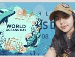 Eunike Apresiasi 'Hari Laut Sedunia' Dengan Membuang Sampah Pada Tempatnya