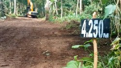 Perintisan Jalan Pertanian Hampir Rampung Progresnya Sudah Mencapai Titik 4.250 Meter dari Titik O