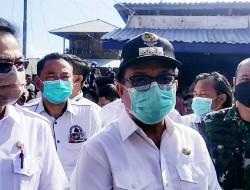 Letkol Inf Benny Lesmana Bersama Unsur Forkopimda Kota Bitung Turun Langsung di Lokasi Kebakaran