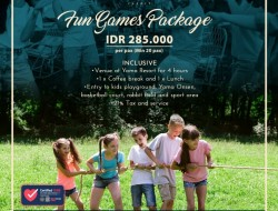 Fun Games Package Ala Yama Resort, Buruuuuaann!!