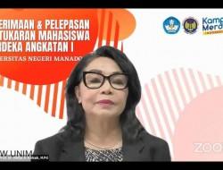 Rektor Unima Sambut 148 Pertukaran Mahasiswa Merdeka Angkatan I