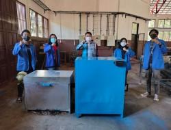 Mahasiswa Fatek Unima Berhasil Ciptakan Mesin Pengering Cengkih Berbahan Bakar Limbah Kelapa