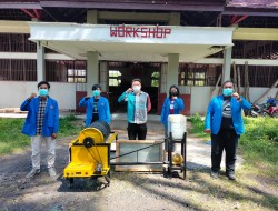 Lagi, Mahasiswa Unima Menciptakan Mesin Menyangrai Kacang Kawangkoan Berbahan Bakar Oli Bekas