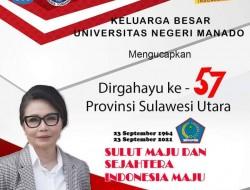 Civitas Akademika Unima: Dirgahayu Provinsi Sulut ke-57
