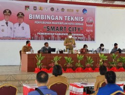 Wakili Bupati, Kadis KOMINFO Buka Bimtek Master Plan Smart City Tahap II
