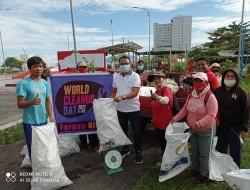 Peringati World Cleanup Day, Pemerintah Manado Bersama LSM Lingkungan Bersih-bersih Kota